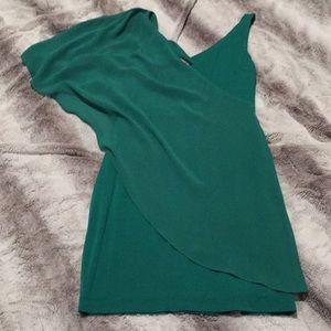 BEBE XS green dress